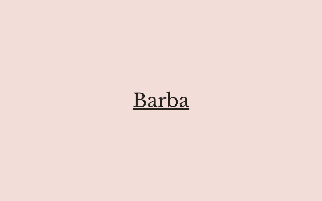 Barba - Cookery